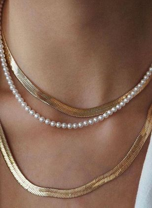 Casual Ball Pearls Without Pendant Necklaces (100772739)