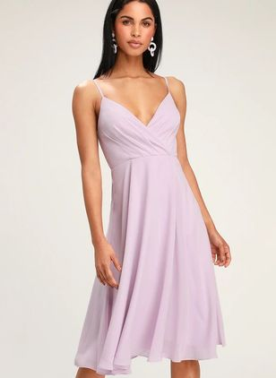 Solid Slip Sleeveless Midi X-line Dress