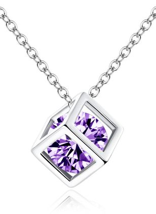 Casual Geometric Crystal Pendant Necklaces (147049192)