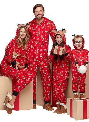 Family Look Animal Christmas Long Sleeve Family Outfits (146380121)