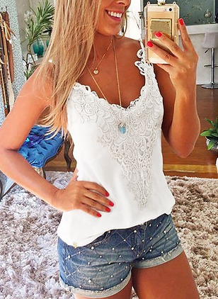 Solid Casual Cotton Halter Neckline Sleeveless Blouses