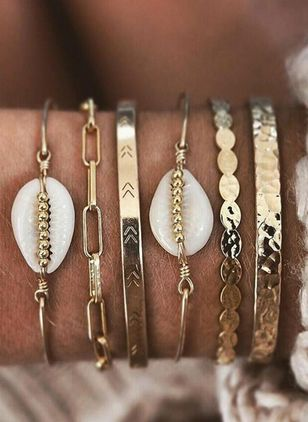 Casual Ball Round No Stone Bangle Bracelets (4042968)