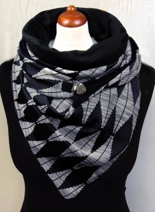 Casual Geometric Scarves (146643007)