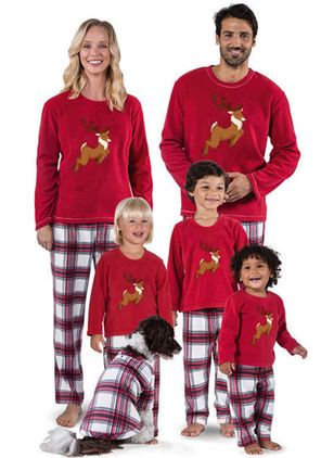 Family Look Animal Casual Long Sleeve Family Outfits (146700130)