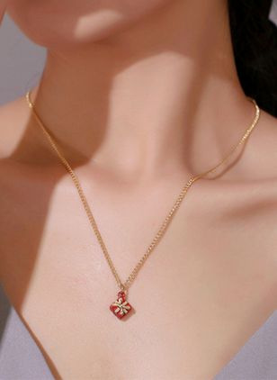 Christmas Geometric Gemstone Pendant Necklaces (128228543)