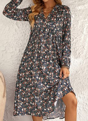 Robes Boho Florale Manches longues Maxi (146896830)