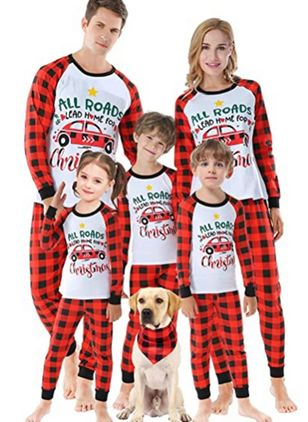 Family Look Alphabet Casual Long Sleeve Family Outfits (146679940)