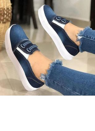 Women's Elastic Band Flats Canvas Flat Heel Flats