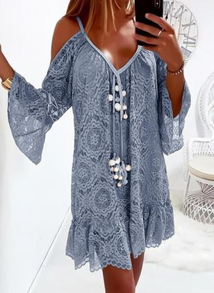 Casual Floral Tunic Camisole Neckline A-line Dress (146910902)
