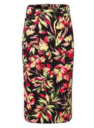 Floral Mid-Calf Casual Skirts