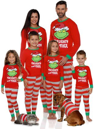 Family Look Alphabet Christmas Long Sleeve Family Outfits (122030176)