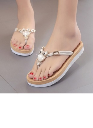 Women's Sandals Flip-Flops Flat Heel Suede Shoes