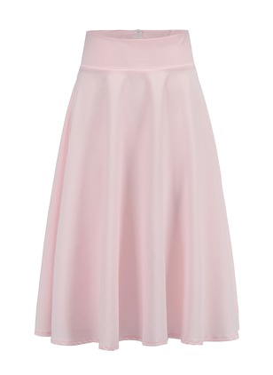 Polyester Solid Knee-Length Casual Skirts