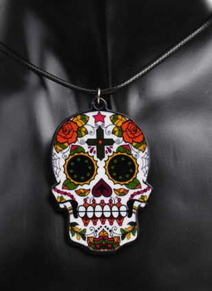 Halloween Floral No Stone Pendant Necklaces (108858845)
