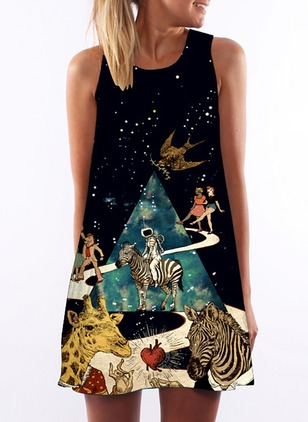 Animal Tshirt Sleeveless Dress