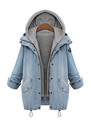 Cotton & Cotton Blend Denim Long Sleeve Collar Coats