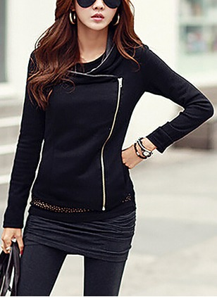 Cotton & Cotton Blend Long Sleeve Collar Jackets