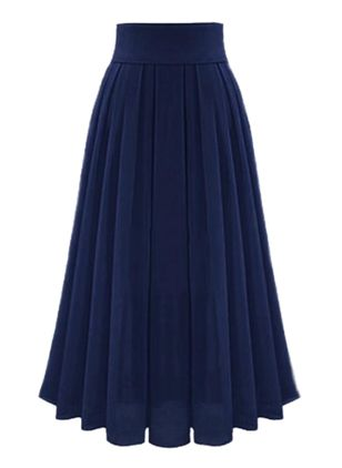 Solid Maxi Casual Skirts (146744039)