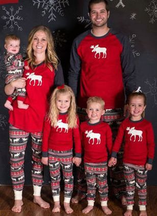 Family Look Animal Christmas Long Sleeve Family Outfits (146380122)