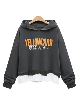 Alphabet Casual Hooded Sweatshirts