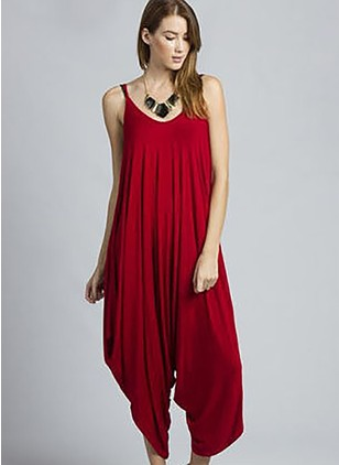 Solid Sleeveless Jumpsuits & Rompers (1062912)