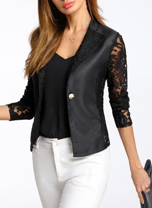Long Sleeve Lapel Jackets