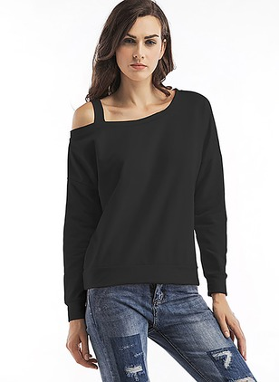 Solid Casual Polyester Others None Sweatshirts