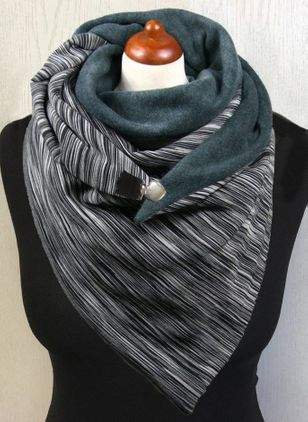 Casual Color Block Scarves (146840309)