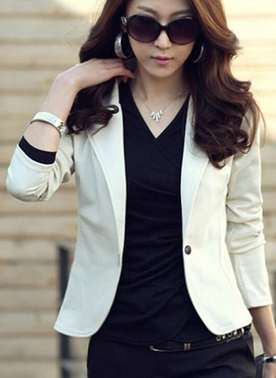 Long Sleeve Lapel Blazers
