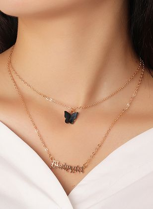Casual Animal No Stone Pendant Necklaces (107805633)