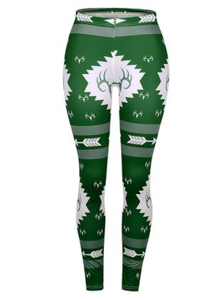 Christmas Skinny High Waist Polyester Leggings (128228918)