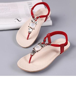 Women's Sandals Flats Sandals Flats Flat Heel Leatherette Shoes