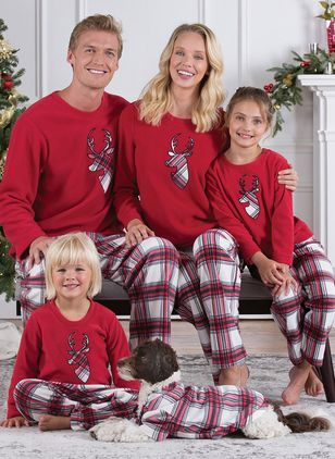 Family Look Animal Christmas Long Sleeve Family Outfits (122030167)