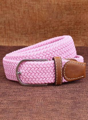 Casual Metal Color Block Belts (107562986)