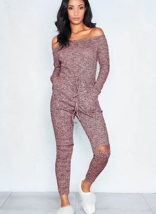 Solid Long Sleeve Jumpsuits & Rompers