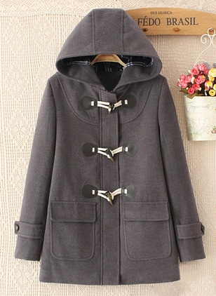 Polyester Long Sleeve Hooded Coats