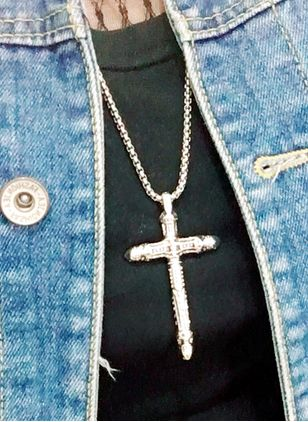 Christmas Cross No Stone Pendant Necklaces (128228545)