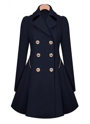 Cotton & Cotton Blend Long Sleeve Collar Pockets Coats