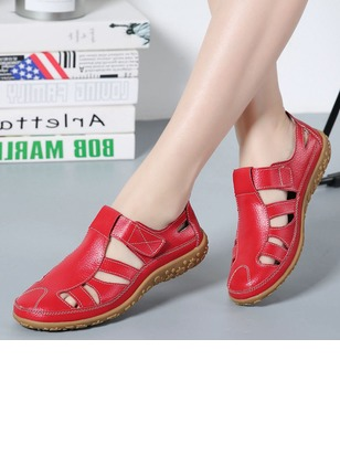 Hollow-out Closed Toe Flat Heel Shoes