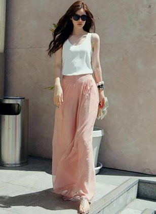 Loose Chiffon Trousers Pants & Leggings