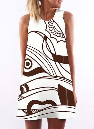 Character Sleeveless Shift Dress