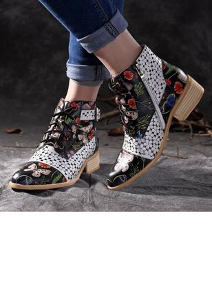 Women's Lace-up Ankle Boots Low Heel Boots
