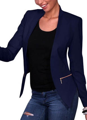 Polyester Long Sleeve Stand Collar Jackets