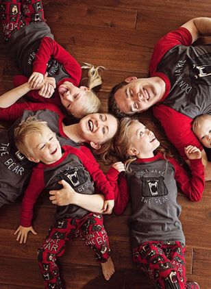 Family Look Animal Christmas Long Sleeve Family Outfits (146700100)