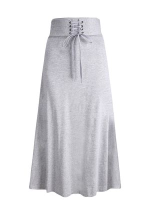 Solid Maxi Sashes Skirts