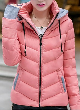 Long Sleeve Hooded Padded Coats