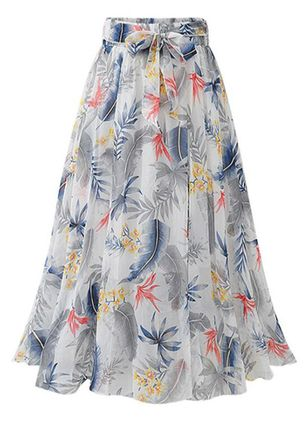Floral Maxi Casual Skirts (1510682)