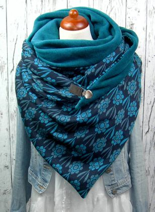 Casual Floral Scarves (146643006)