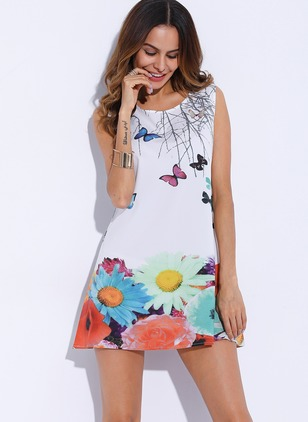 Cotton Character Sleeveless Above Knee Dresses