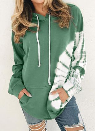Bloque de color Informal Sudaderas (109556797)